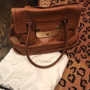 Diane von Furstenberg expandable satchel